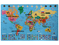 Foam World Map Kit - English/Korean