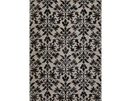 Everest Retro Damask Grey Area Rug