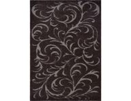 Canyon Floral Swirls Brown Area Rug