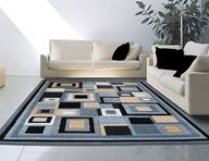 Catalina Modern Squares Gray Area Rug