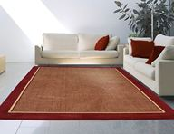 Catalina Red Border Area Rug