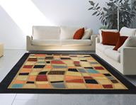Catalina Modern Mosaic Black Area Rug
