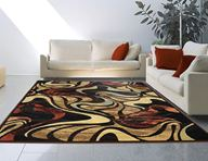 Catalina Modern Abstract Black Area Rug