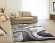 Catalina Grey Swirls Area Rug
