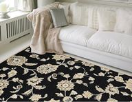Optimum Victorian Floral Black Area Rug