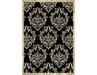Optimum Damask Black Area Rug