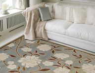 Optimum Fading Floral Blue Area Rug