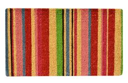 Striped Coir Doormat