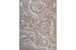 Canyon Floral Swirls Beige Area Rug