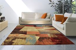 Catalina Abstract Squares Multi Area Rug