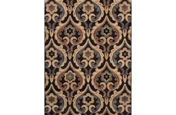 Catalina Flower Scroll Brown Area Rug