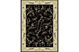 Optimum Victorian Classic Black Area Rug