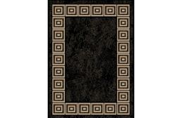 Optimum Square Border Black Area Rug