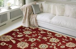 Optimum Victorian Floral Red Area Rug