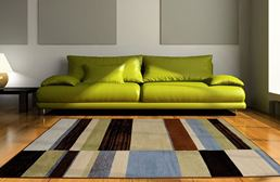 Optimum Offset Stripes Multi Area Rug