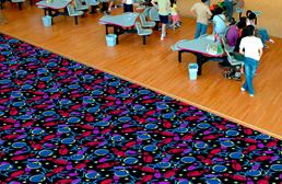 Joy Carpets Neon Lights Carpet - Retro Bowl