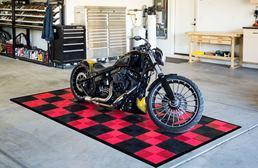 Vented Nitro Tile - Motorcycle Mats
