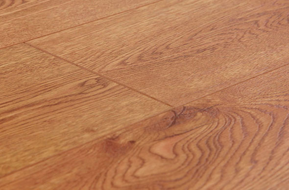 Roll out laminate wood flooring for a basement