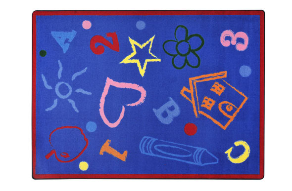 Joy Carpets Kid's Art Kids Rug