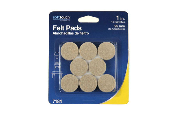 "1"" Oatmeal Felt Furniture Pads"