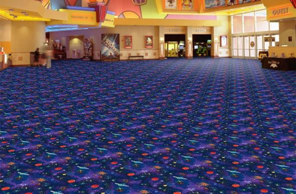 Joy Carpets Neon Lights Carpet - Space Explorer