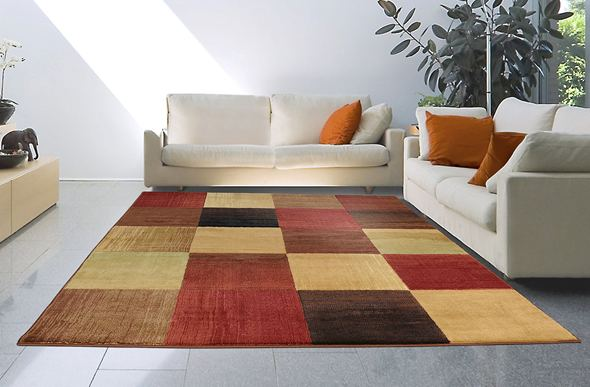 Catalina Simply Squares Multi Area Rug