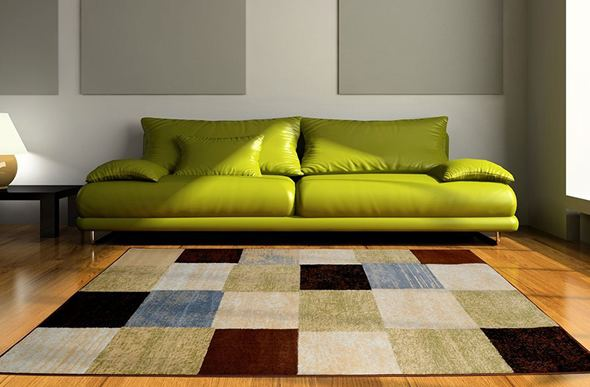 Optimum Retro Colorblock Multi Area Rug