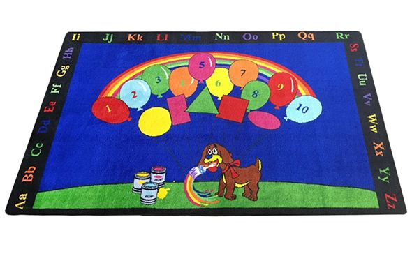 Rainbow Paint Kids Rug
