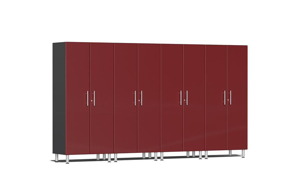 Ulti-MATE Garage 2.0 Series 4-PC Tall Cabinet Kit - Ruby Red Metallic
