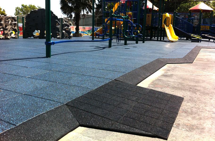 Jamboree playground tiles designer series rubber surface for Cork playground flooring