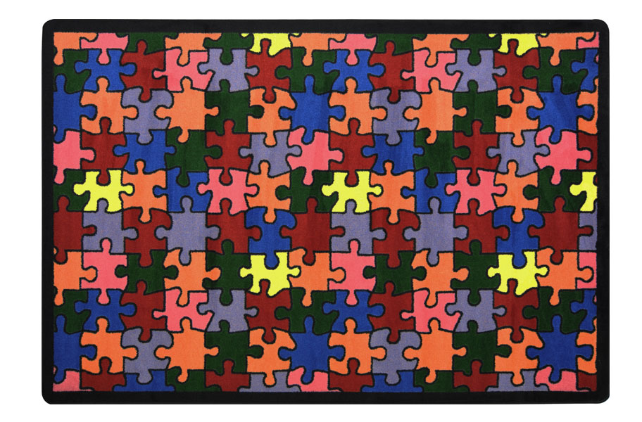 Joy Carpets Puzzled Kids Rug