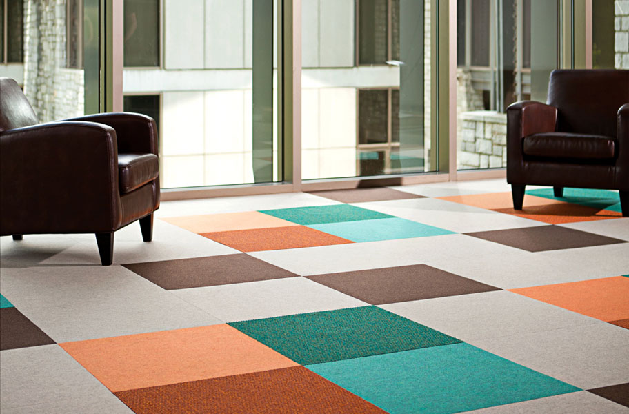 Svelte Carpet Tiles - Bright And Colorful Commercial Grade Floor Tiles