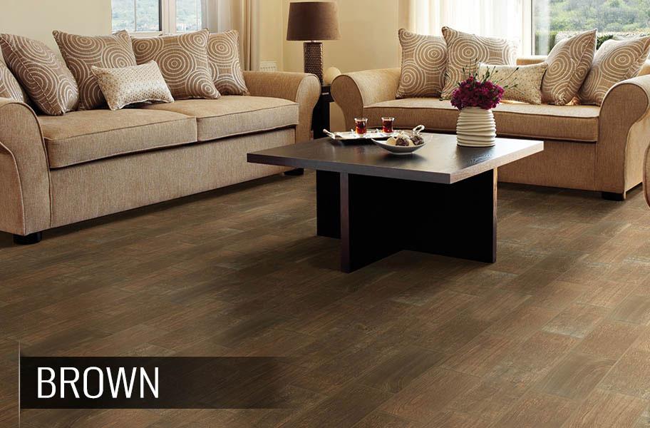 ... Daltile Emblem Ceramic Tile - Brown ... - Daltile Emblem - Low Cost Wood Look Ceramic Tile