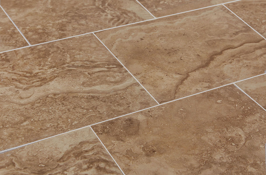 Homestead Distressed Travertine Porcelain Tile