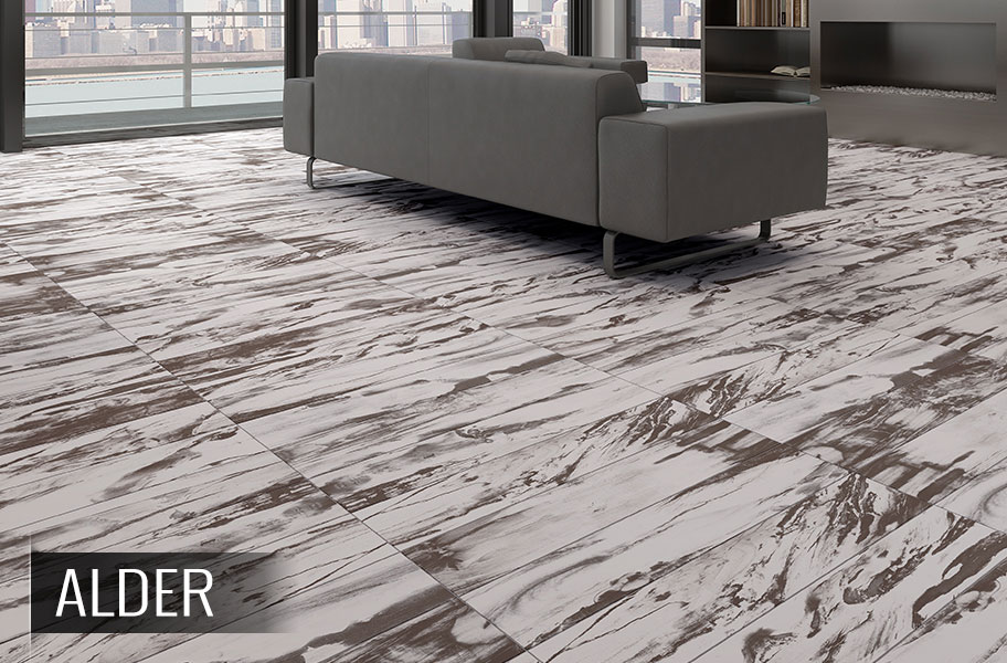 Emser Modena Porcelain Tile - Petrified Wood Look Planks