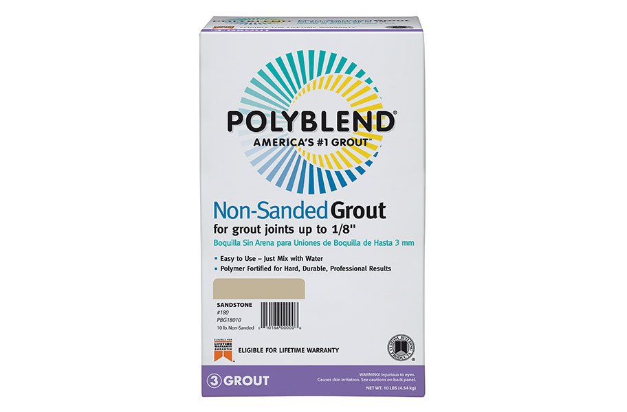 Polyblend Non-­Sanded Grout