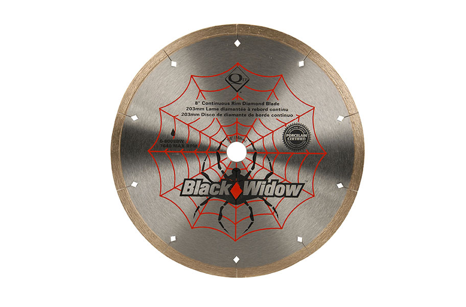 Qep Black Widow Diamond Blade Cuts Tile With Ease