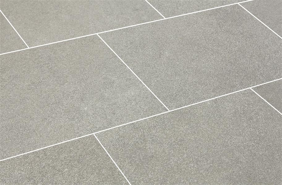 Daltile Parkway Gray Ceramic Tile - Stained Concrete Look
