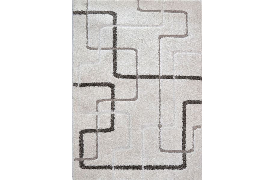 Canyon Abstract Lines Ivory Area Rug