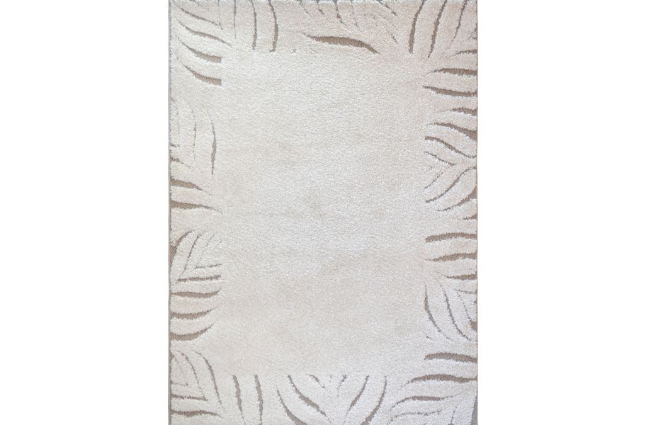 Canyon Bordered Lines Ivory Area Rug
