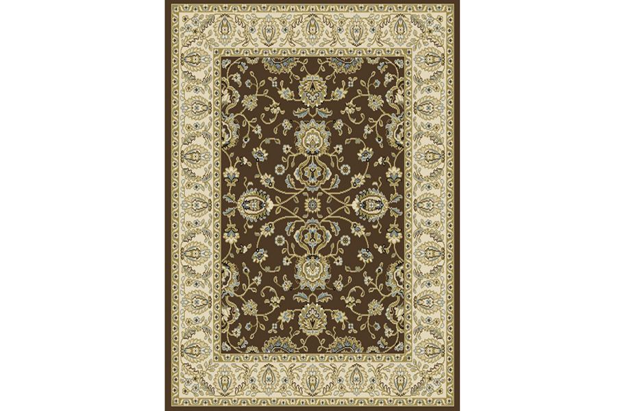 Optimum French Floral Brown Area Rug