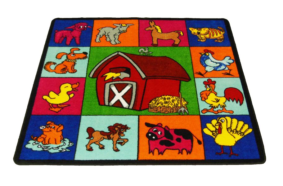 Farm for Babies Kids Rug