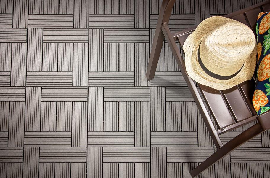Helios Composite Deck Tiles 6 Slat Outdoor Flooring