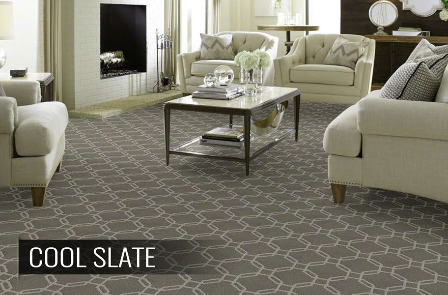 Shaw Defined Beauty Geometric Pattern Waterproof Carpet