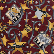 Burgundy Joy Carpets Silver Screen Carpet
