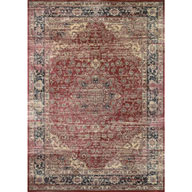 Persian Vase Red Zahara Persian Vase Red Area Rug