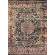 Lotus Medallion BlackZahara Lotus Medallion Black Area Rug