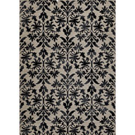 Retro Damask GreyEverest Retro Damask Grey Area Rug