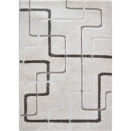 Abstract Lines IvoryCanyon Abstract Lines Ivory Area Rug