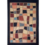 Modern Mosaic Black Catalina Modern Mosaic Black Area Rug